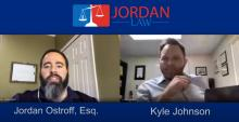 Jordan Ostroff from Jordan Law on a video conference call with Kyle Johnson