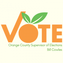 "Orange County Supervisor of Elections ""Vote"" logo"