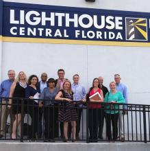 Students in Stetson's Executive MBA program developed a marketing plan this month to help Lighthouse Works, part of Lighthouse Central Florida, which helps the visually impaired.