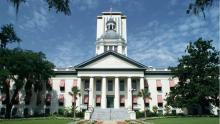 An image of the Florida state capitol building in Tallahassee