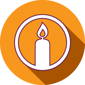 Image of a candle representing a memorial